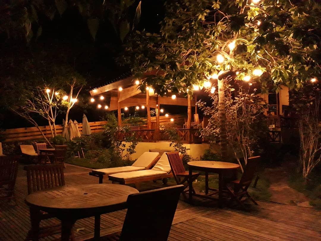 Bara Beach Terrace at night