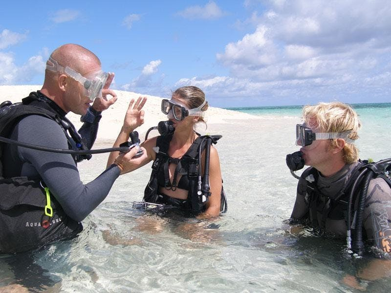 Dive Course session at Beach